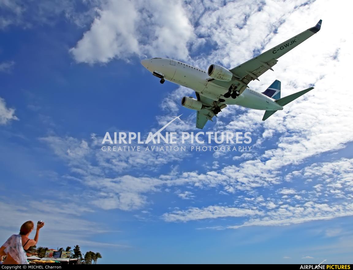 WestJet Airlines C-GWJK aircraft at Sint Maarten - Princess Juliana Intl
