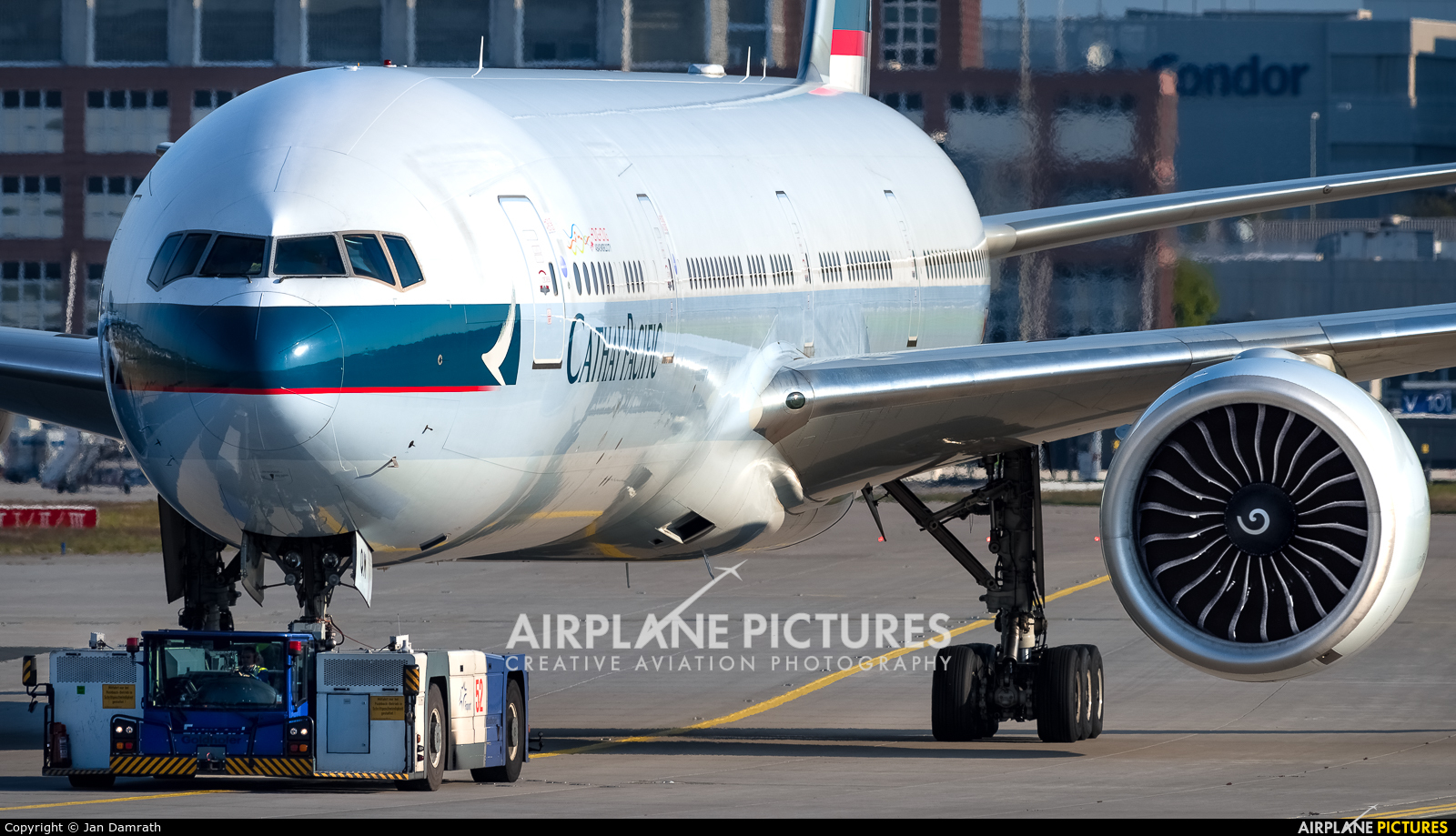 Cathay Pacific B-KQM aircraft at Frankfurt