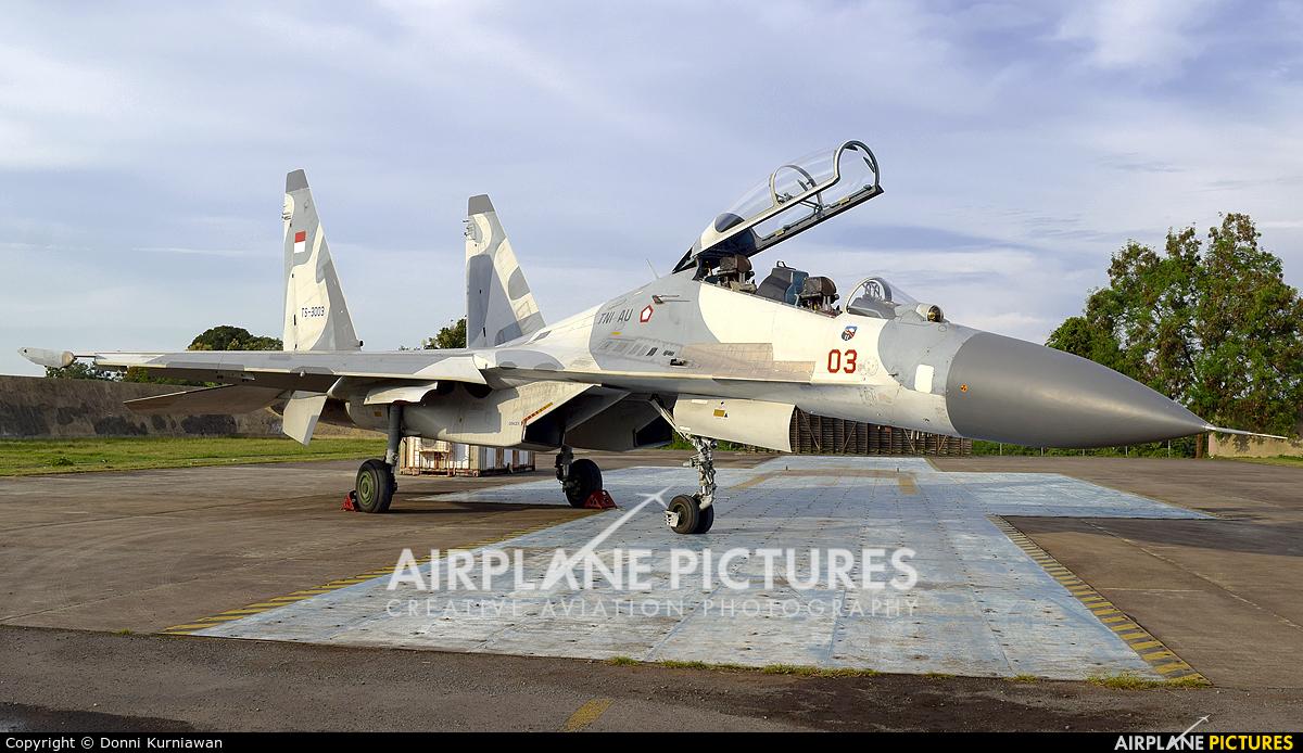 Indonesia - Air Force TS-3003 aircraft at Sultan Hasanuddin Int'l Airport Makassar