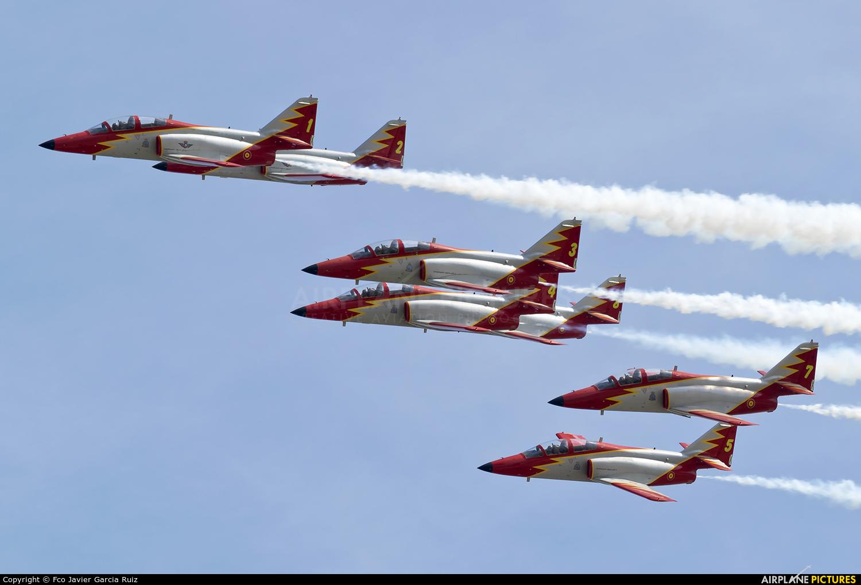 Spain - Air Force : Patrulla Aguila E.25-31 aircraft at Alcantarilla