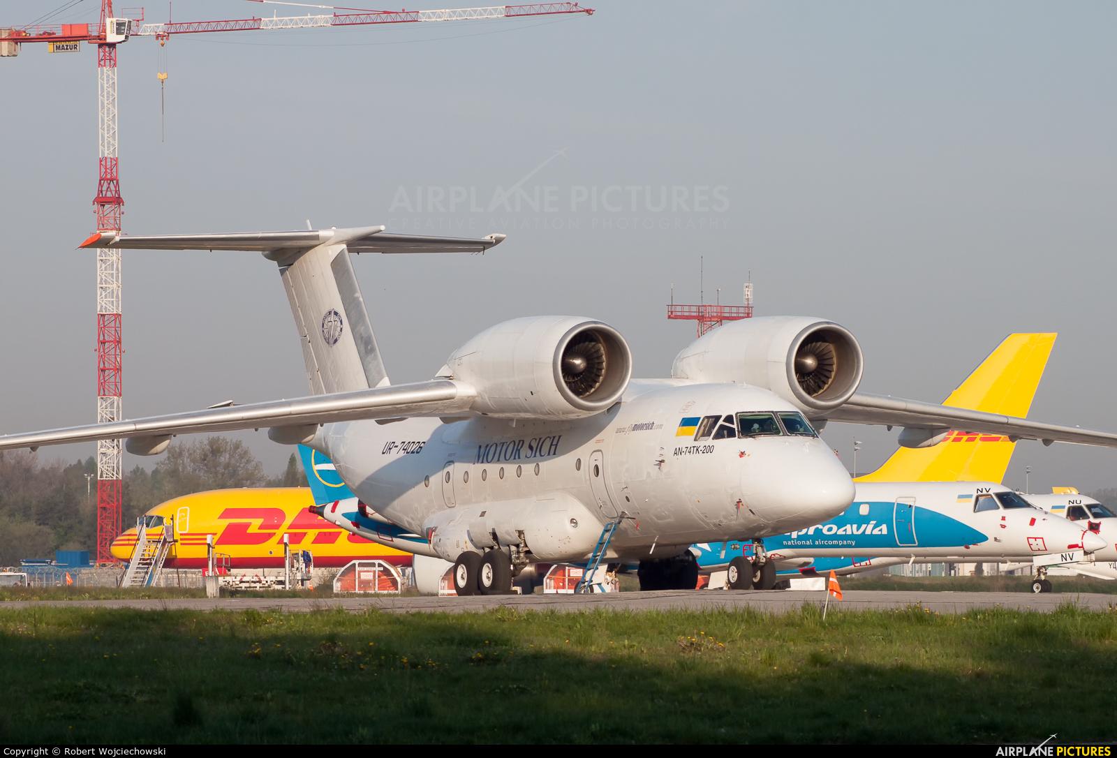 Motor Sich UR-74026 aircraft at Katowice - Pyrzowice
