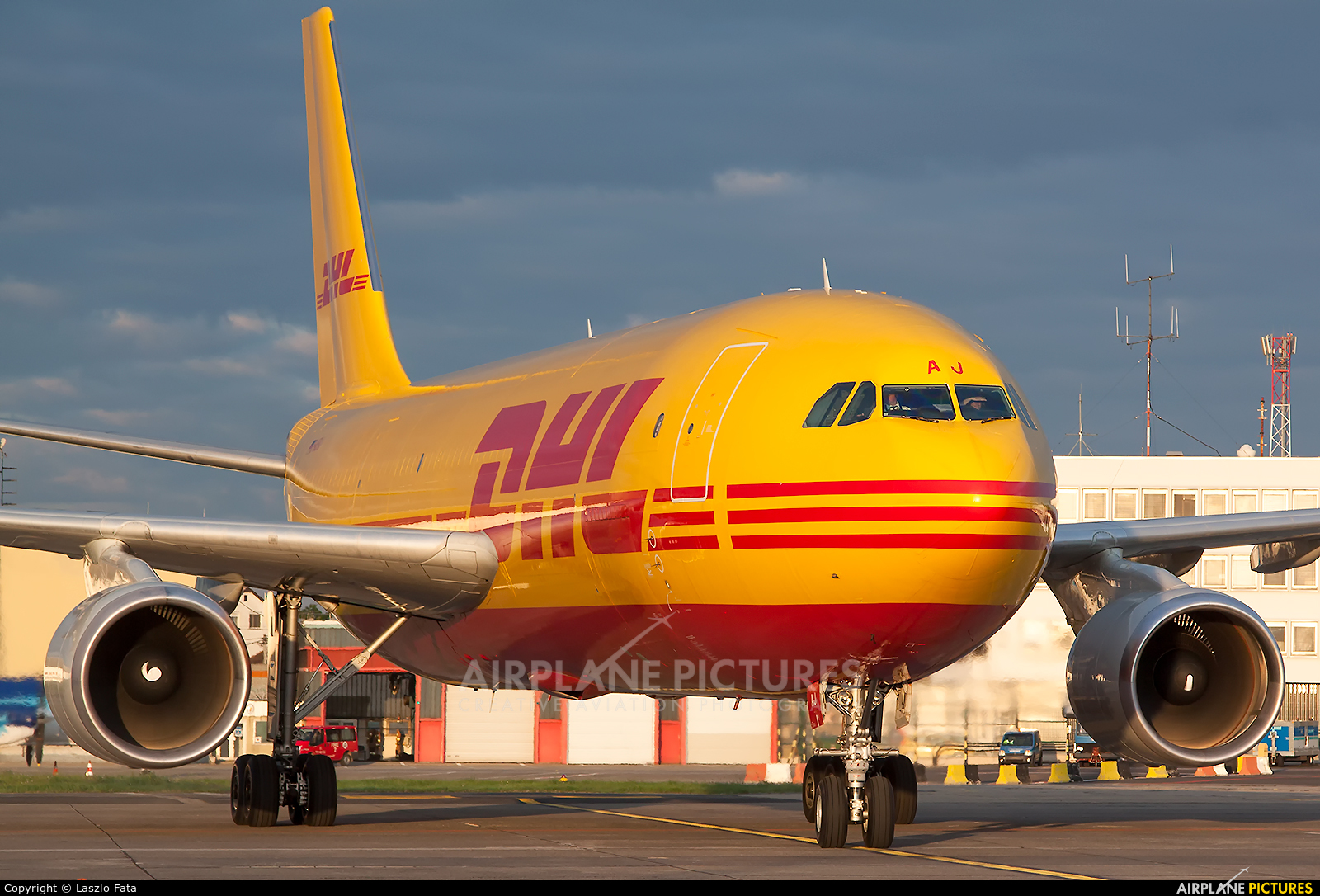 DHL Cargo D-AEAJ aircraft at Budapest Ferenc Liszt International Airport