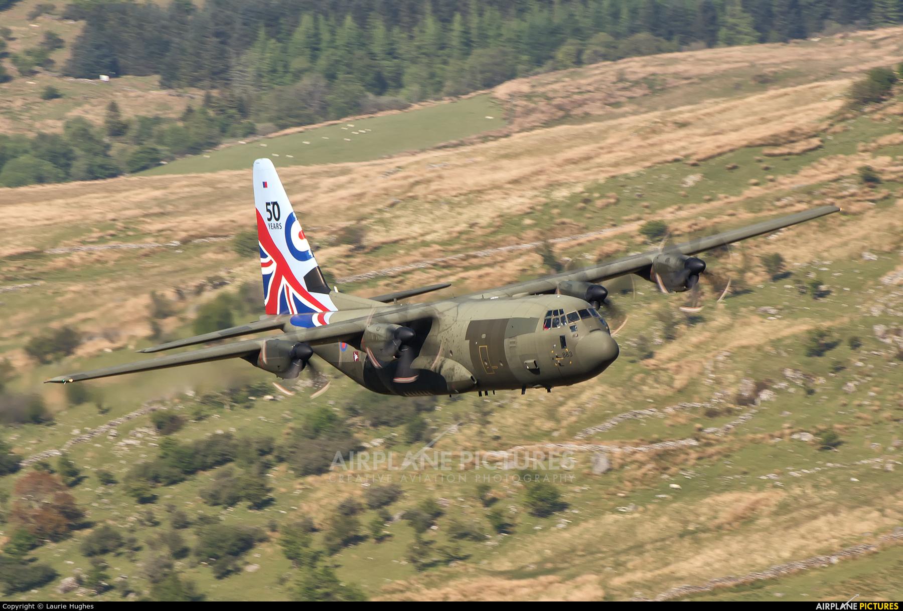 Royal Air Force ZH883 aircraft at Machynlleth Loop - LFA 7