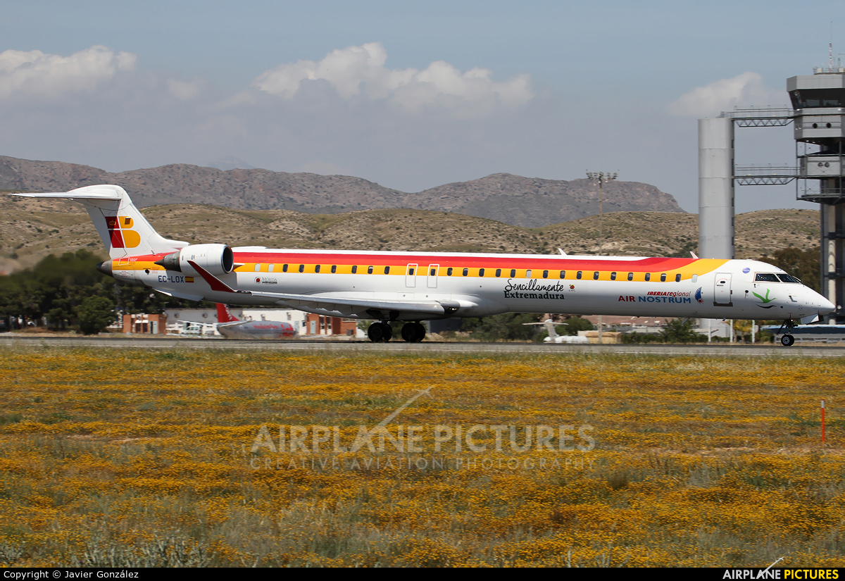 Air Nostrum - Iberia Regional EC-LOX aircraft at Alicante - El Altet