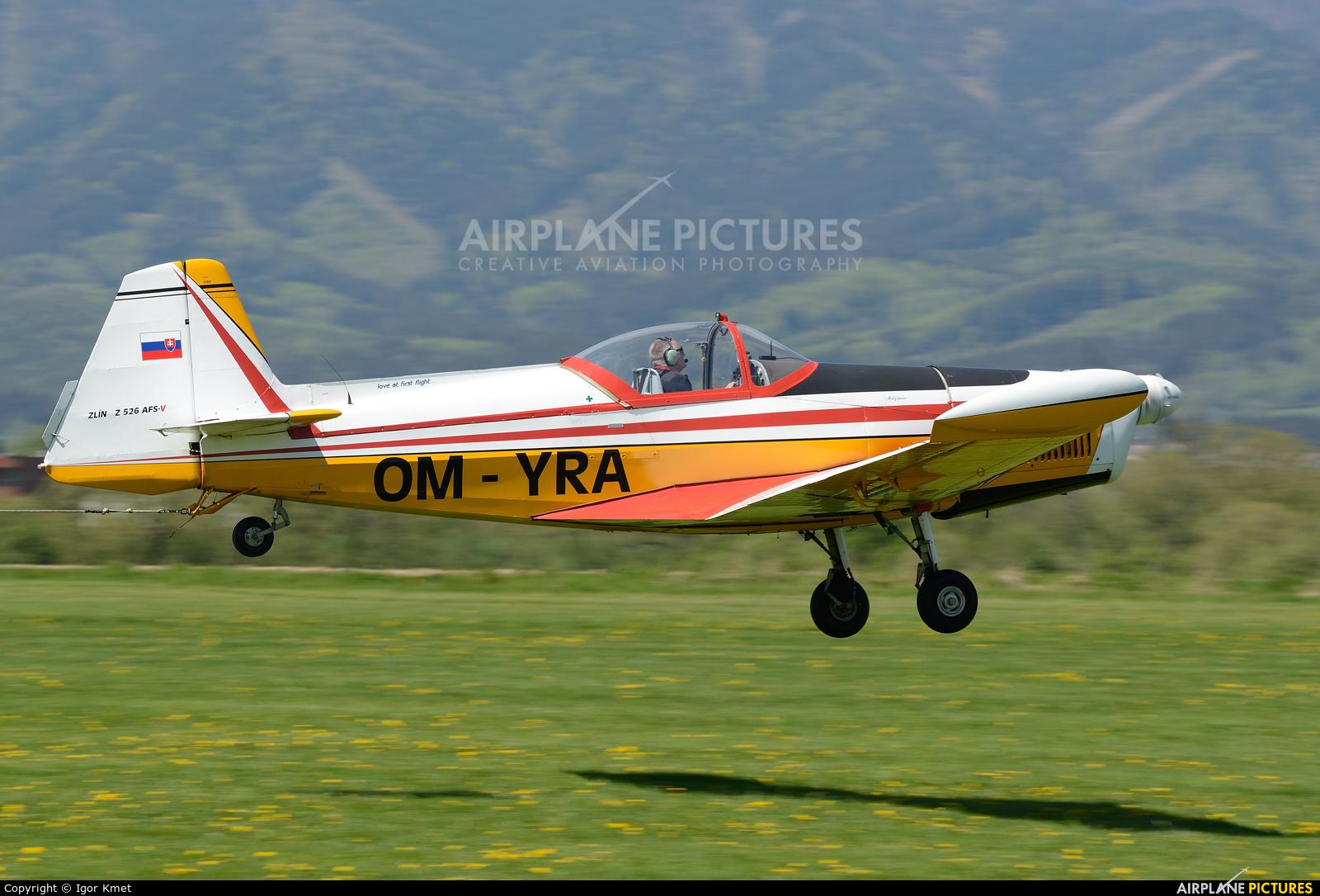 Aeroklub Trnava OM-YRA aircraft at Martin-Tomčany
