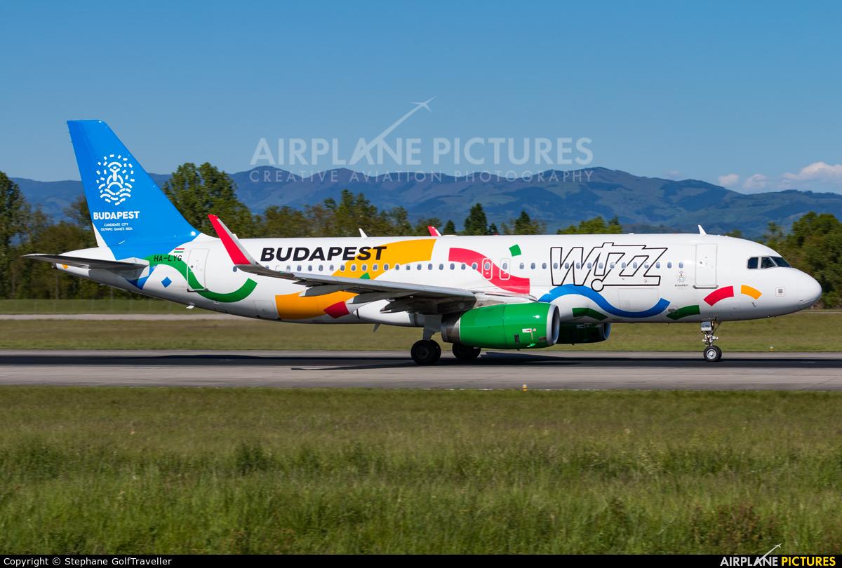 Wizz Air HA-LYG aircraft at Basel - Mulhouse- Euro