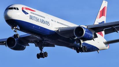 G-BZHB - British Airways Boeing 767-300
