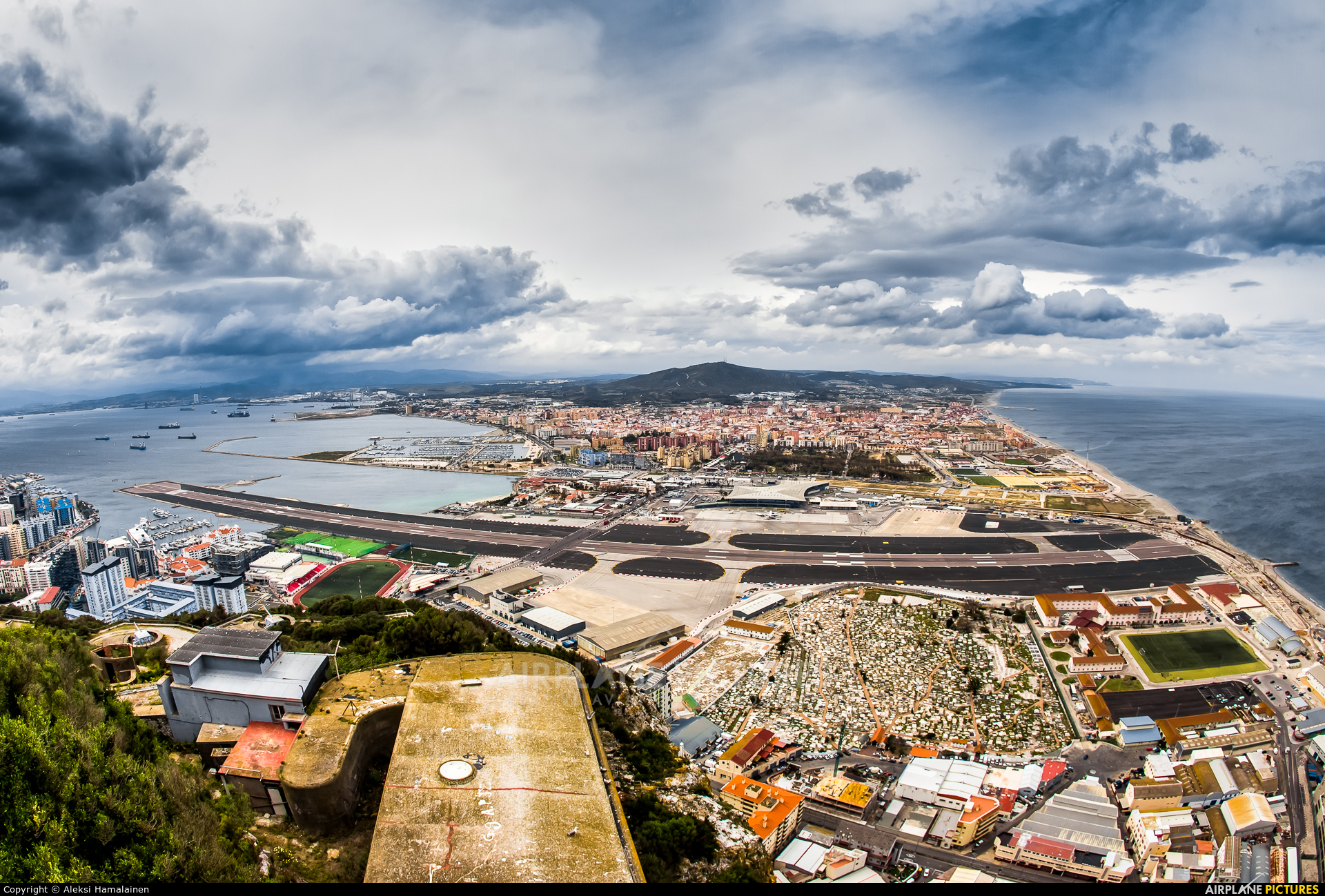 - Airport Overview - aircraft at Gibraltar