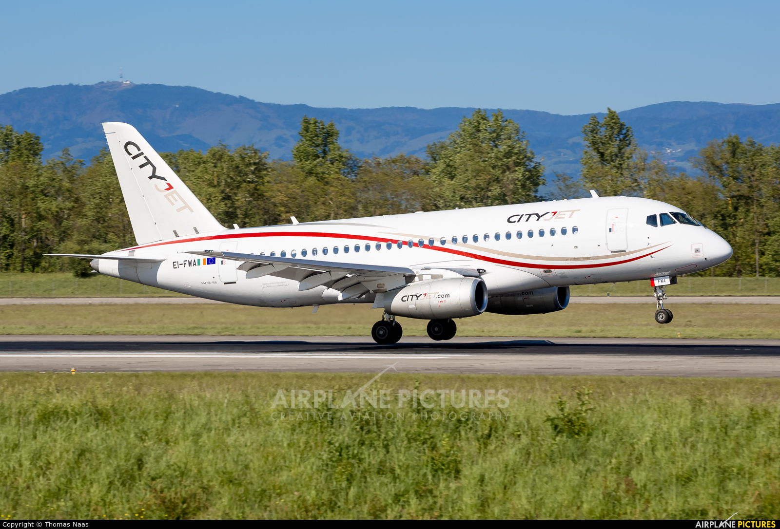 CityJet EI-FWA aircraft at Basel - Mulhouse- Euro