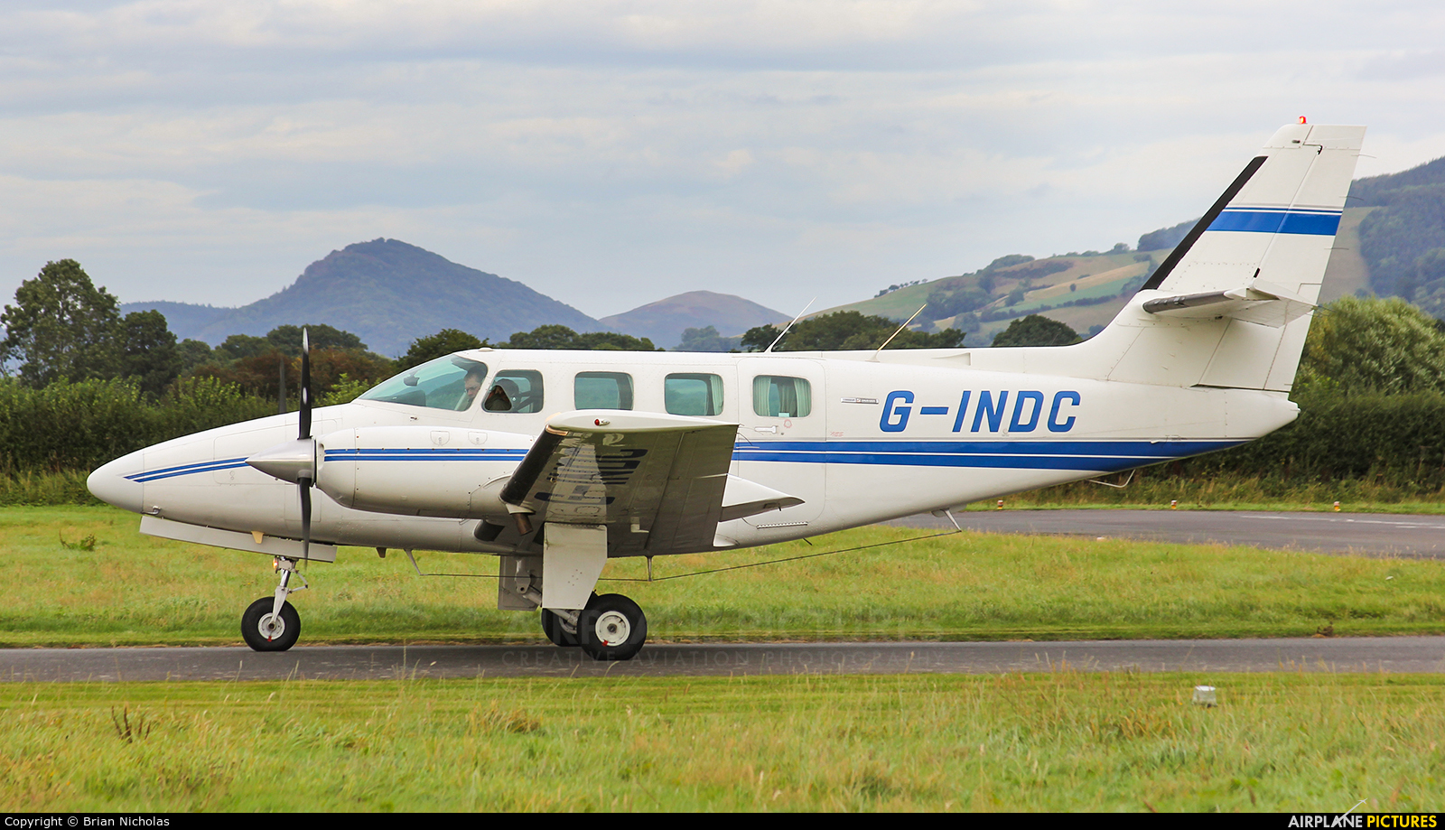 Private G-INDC aircraft at Welshpool
