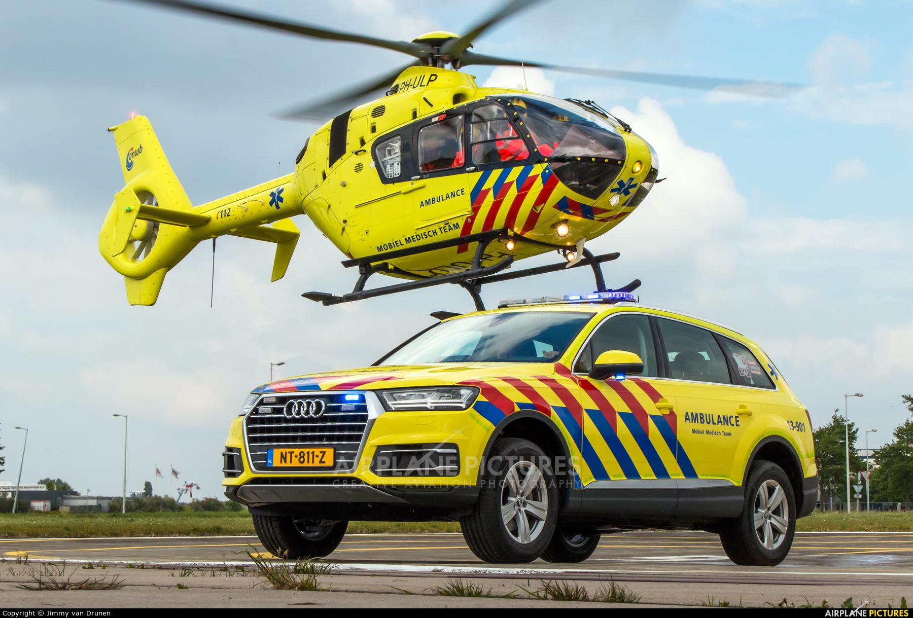 ANWB Medical Air Assistance PH-ULP aircraft at Amsterdam Heliport