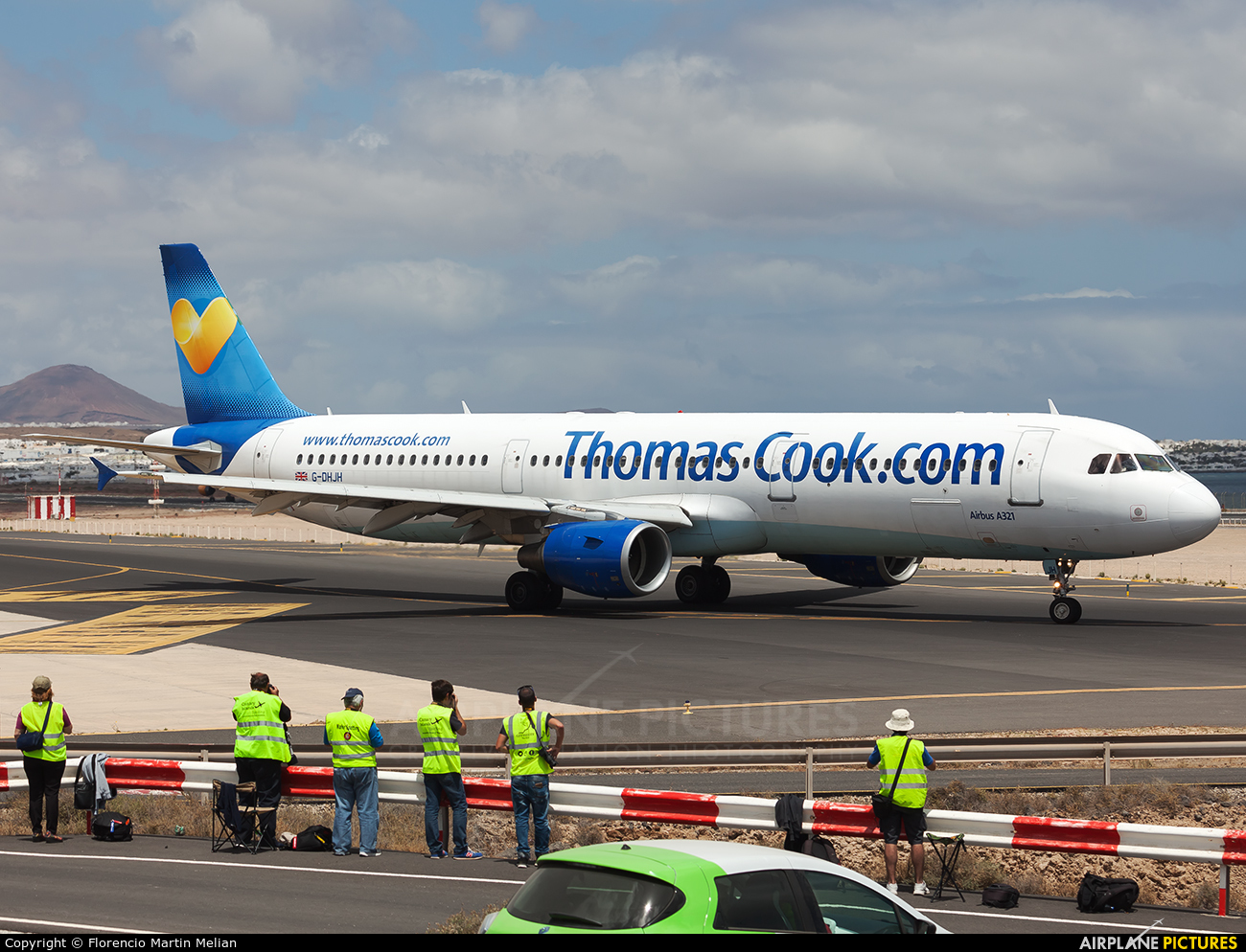 Thomas Cook G-DHJH aircraft at Lanzarote - Arrecife