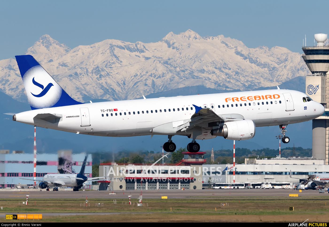 FreeBird Airlines TC-FBO aircraft at Milan - Malpensa