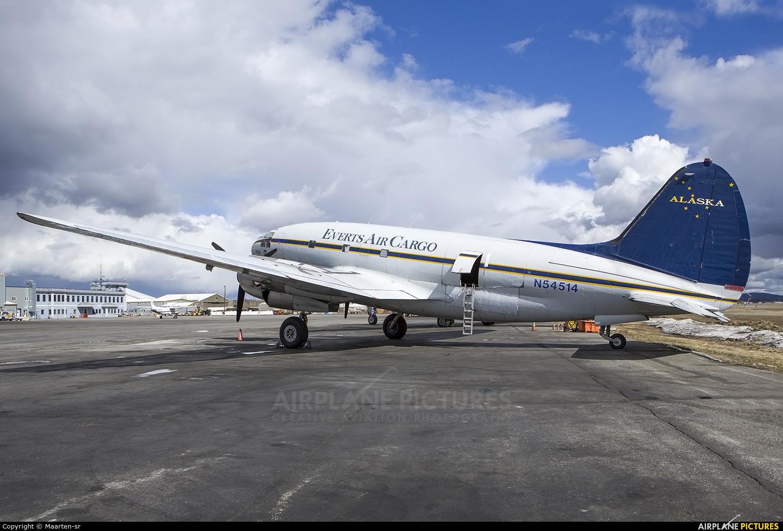 Everts Air Cargo N54514 aircraft at Fairbanks Intl