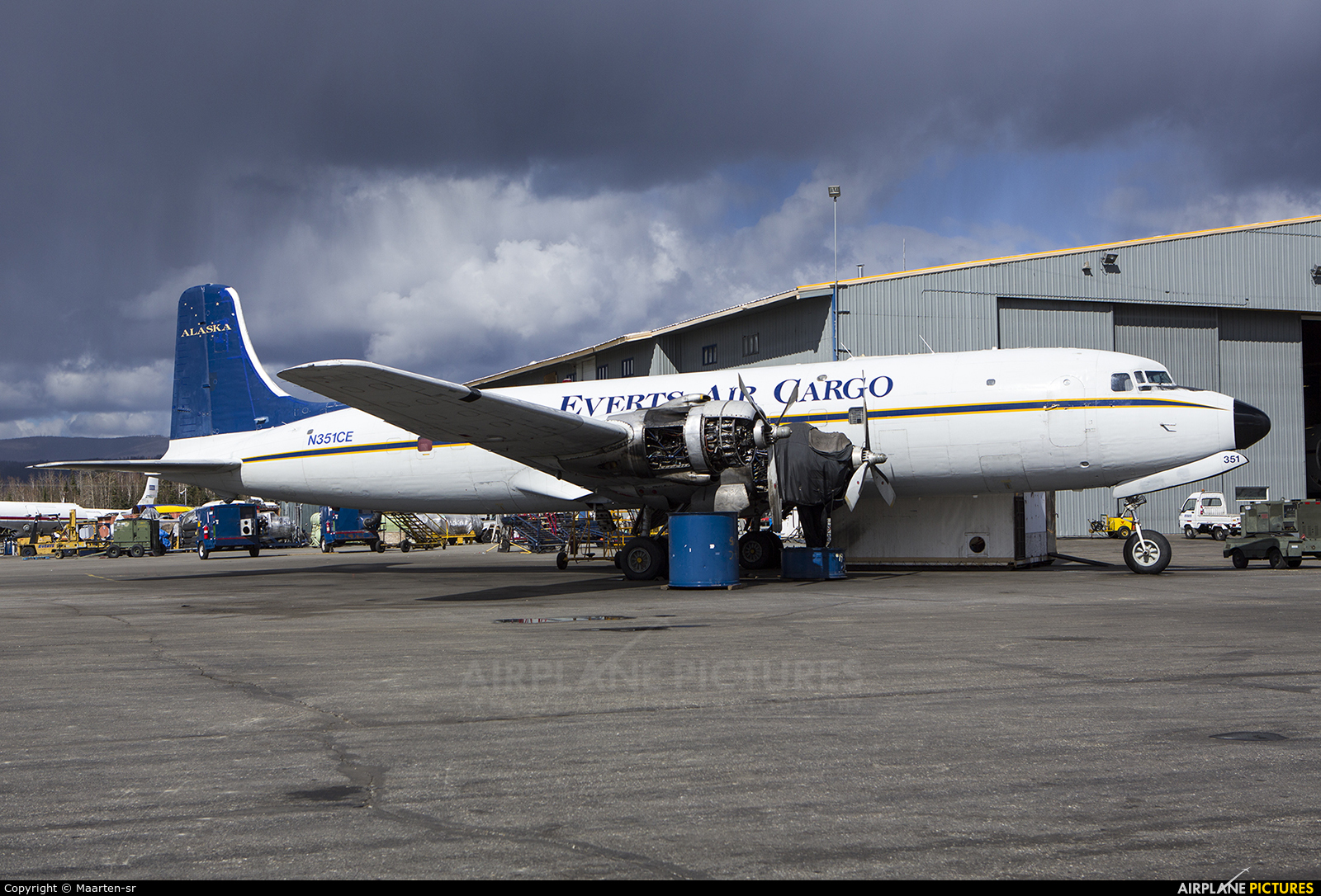 Everts Air Cargo N351CE aircraft at Fairbanks Intl