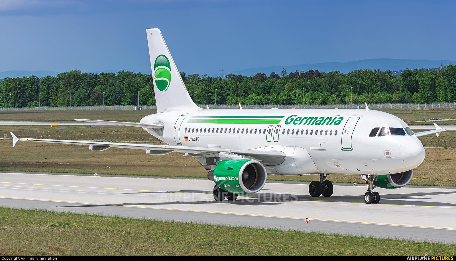 Germania D-ASTC aircraft at Frankfurt