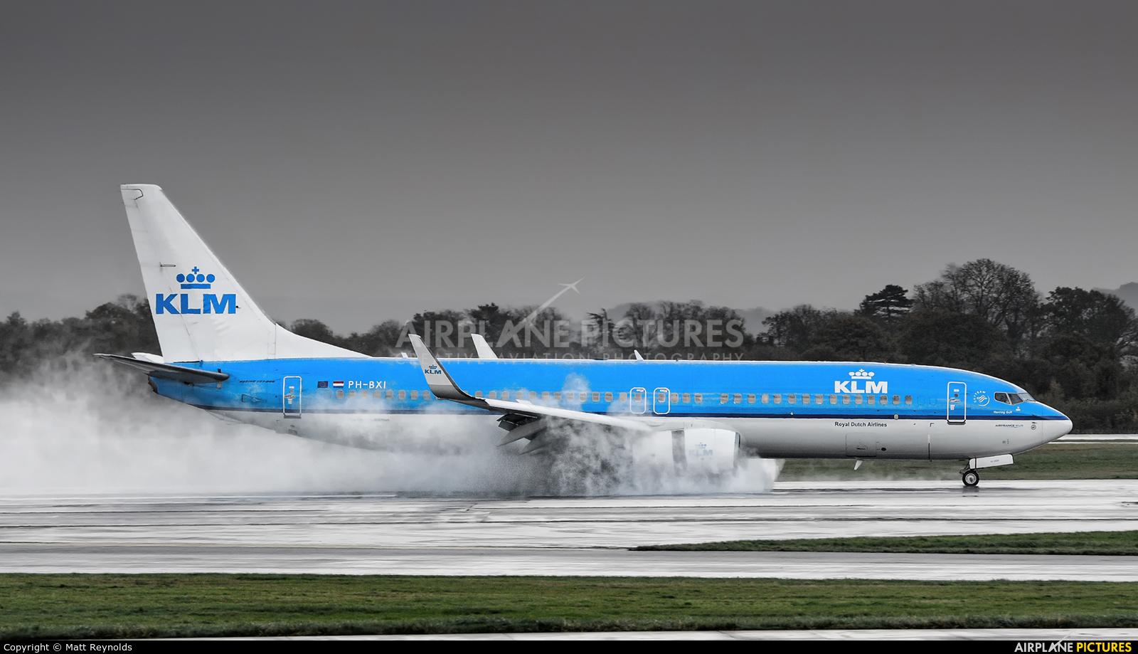 KLM PH-BXI aircraft at Manchester