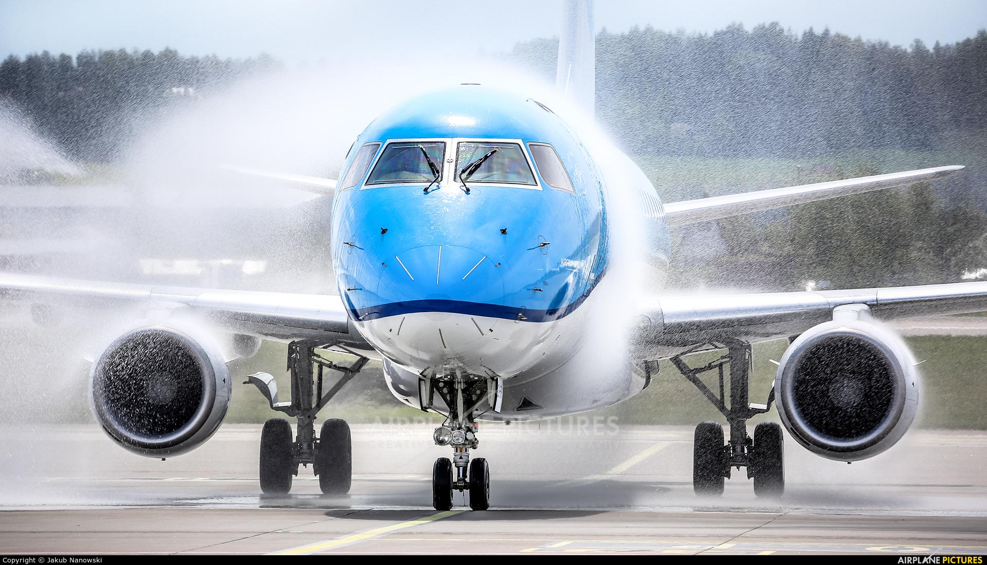KLM Cityhopper PH-EXI aircraft at Gdańsk - Lech Wałęsa