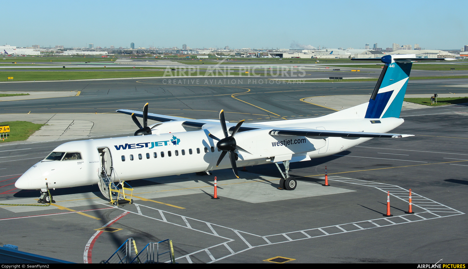 WestJet Encore C-GKWE aircraft at Toronto - Pearson Intl, ON