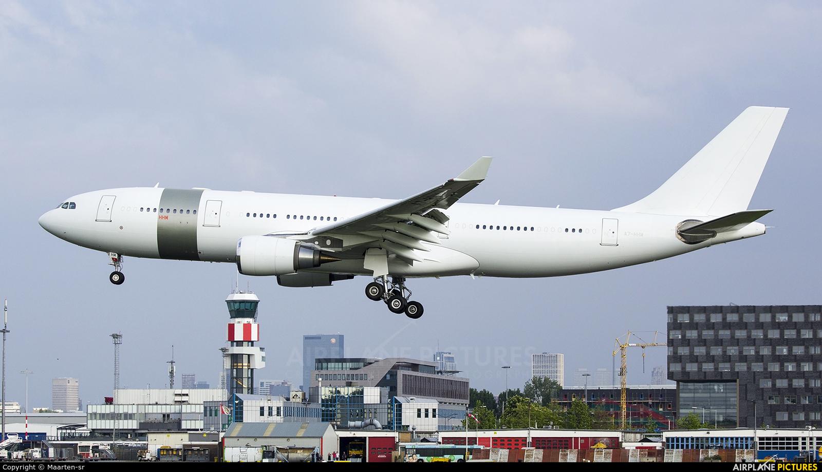 Qatar Amiri Flight A7-HHM aircraft at Rotterdam