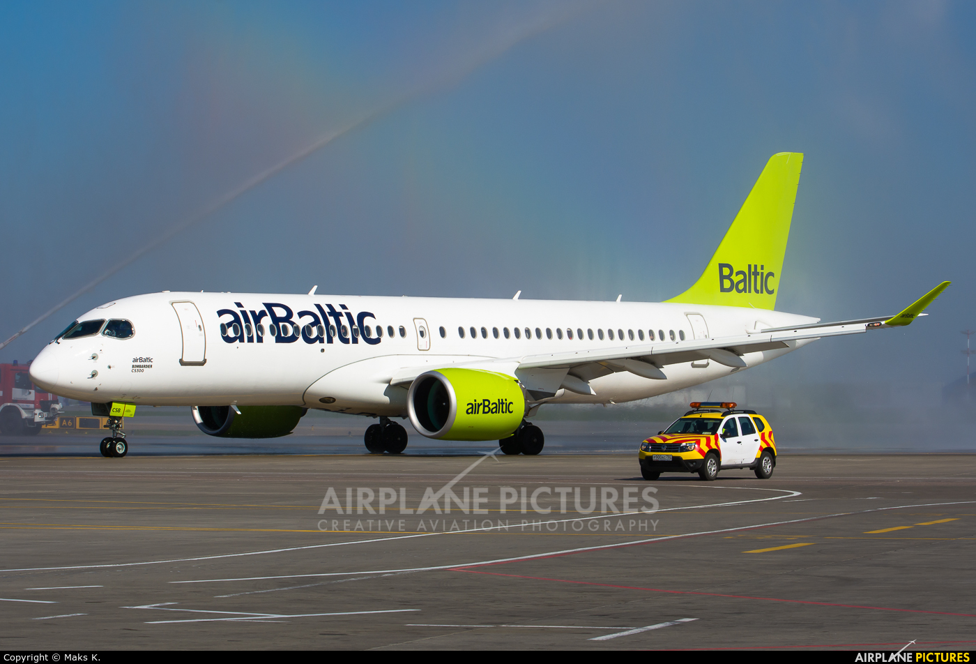 Air Baltic YL-CSB aircraft at Moscow - Sheremetyevo