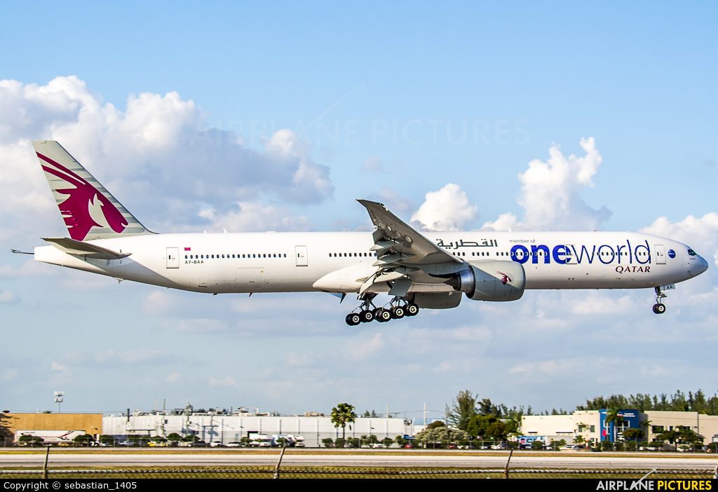 Qatar Airways A7-BAA aircraft at Miami Intl