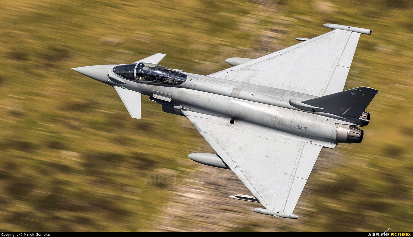 Royal Air Force ZK346 aircraft at Machynlleth Loop - LFA 7