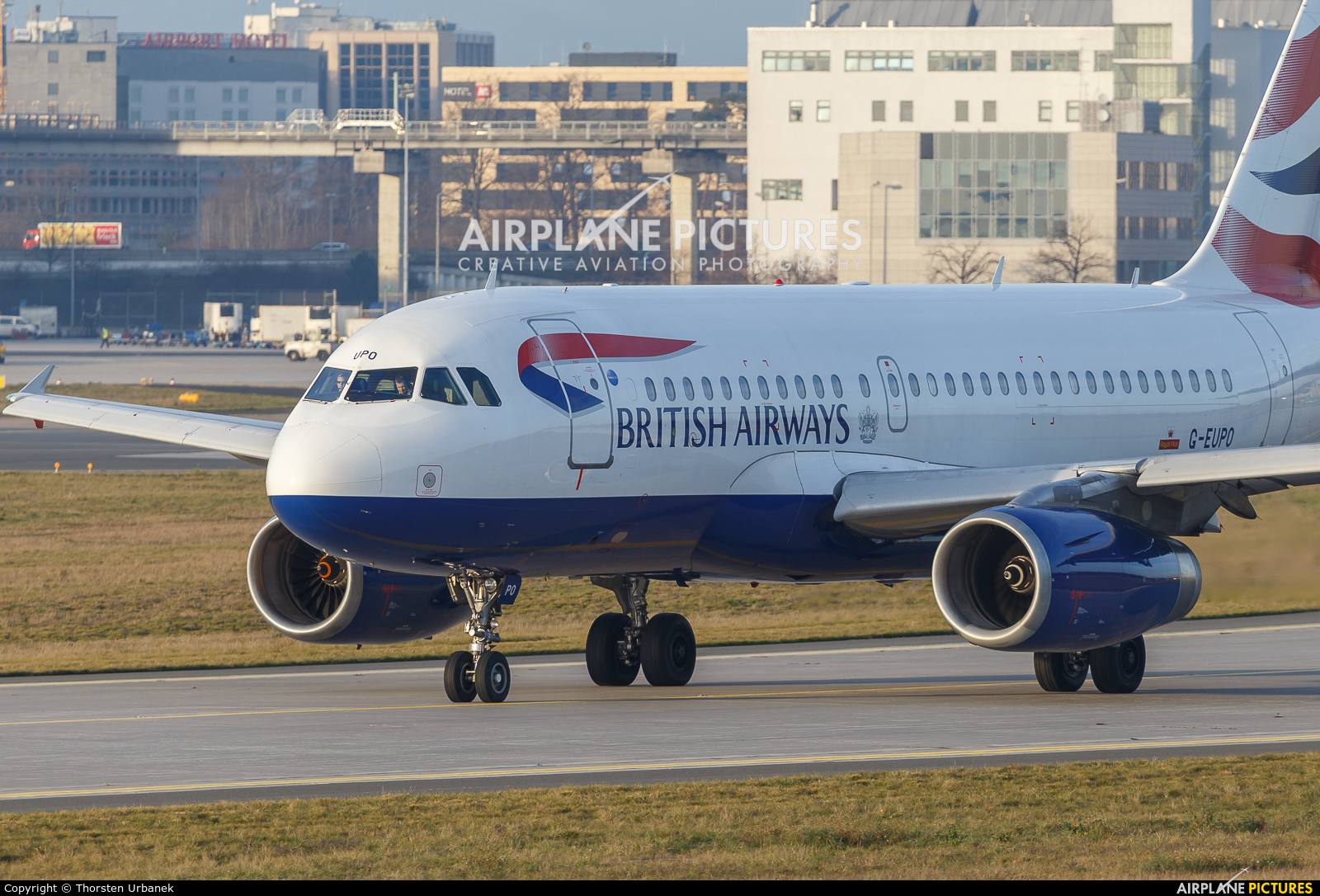 British Airways G-EUPO aircraft at Frankfurt