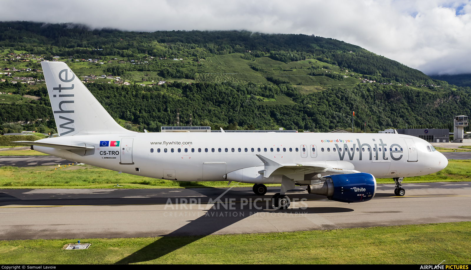 White Airways CS-TRO aircraft at Sion