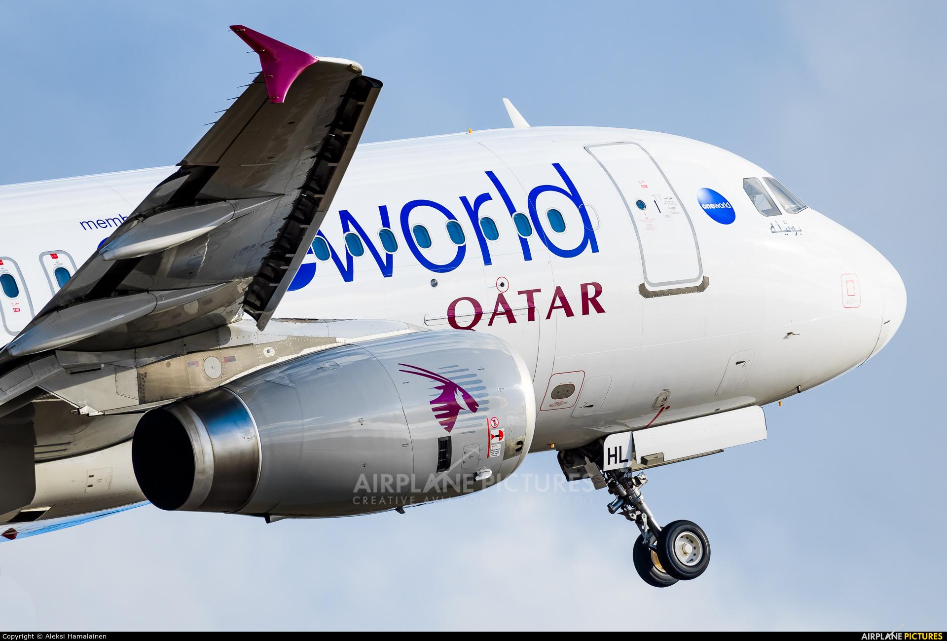 Qatar Airways A7-AHL aircraft at Helsinki - Vantaa