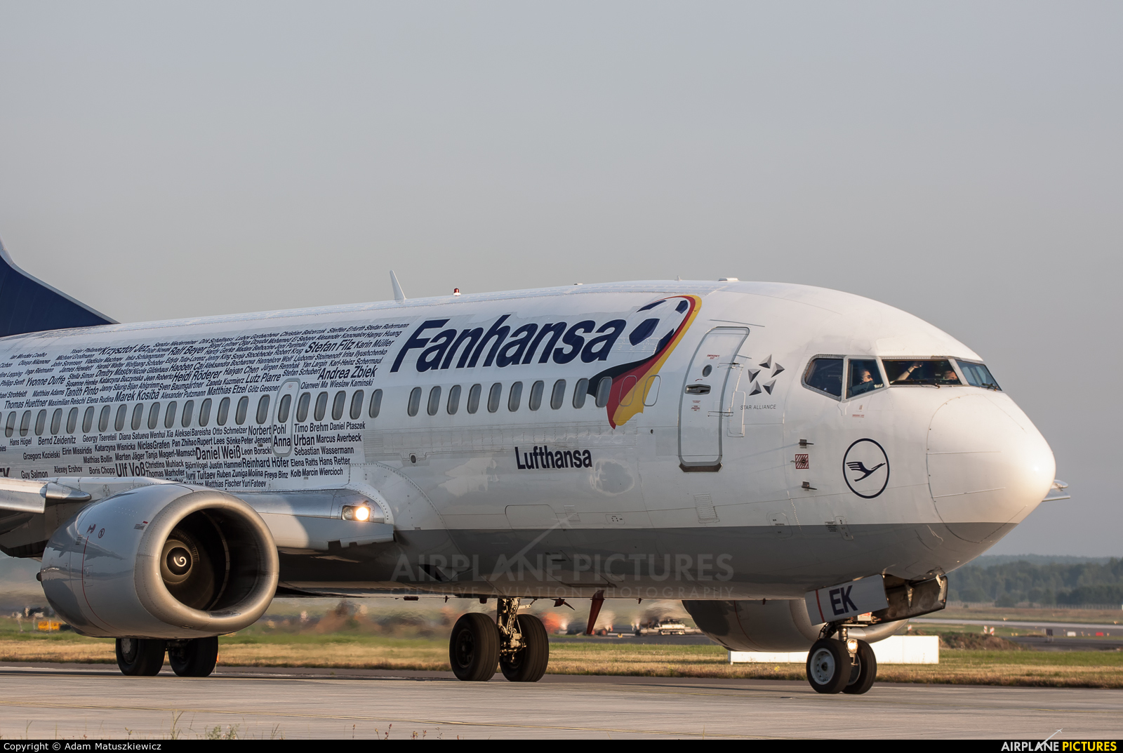 Lufthansa D-ABEK aircraft at Katowice - Pyrzowice