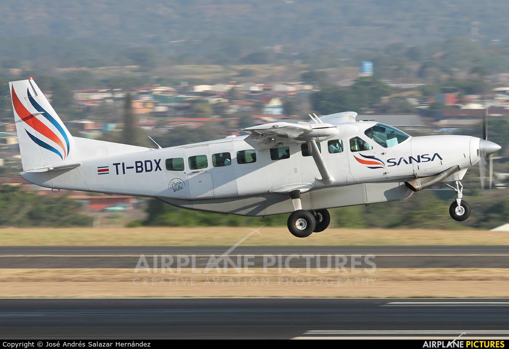 Sansa Airlines TI-BDX aircraft at San Jose - Juan Santamaría Intl