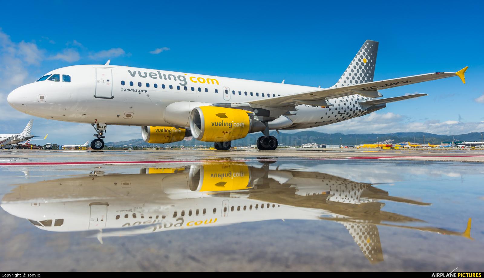 Vueling Airlines EC-MKV aircraft at Barcelona - El Prat