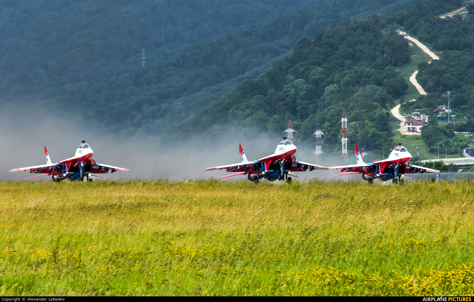 """Russia - Air Force """"Strizhi"""" 09 aircraft at Sochi Intl"""