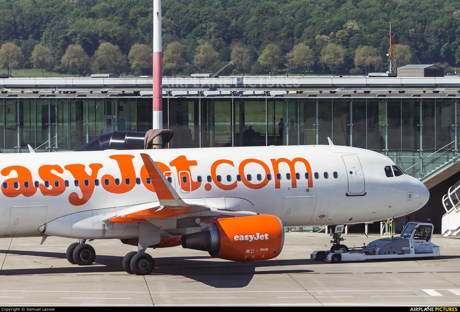 easyJet Switzerland HB-JXE aircraft at Basel - Mulhouse- Euro