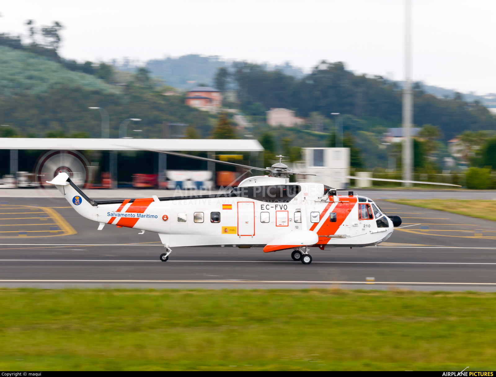 Spain - Coast Guard EC-FVO aircraft at La Coruña