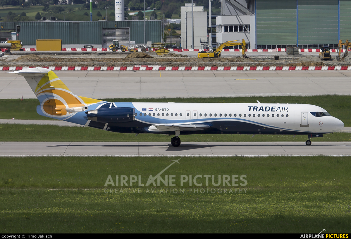 Trade Air 9A-BTD aircraft at Stuttgart