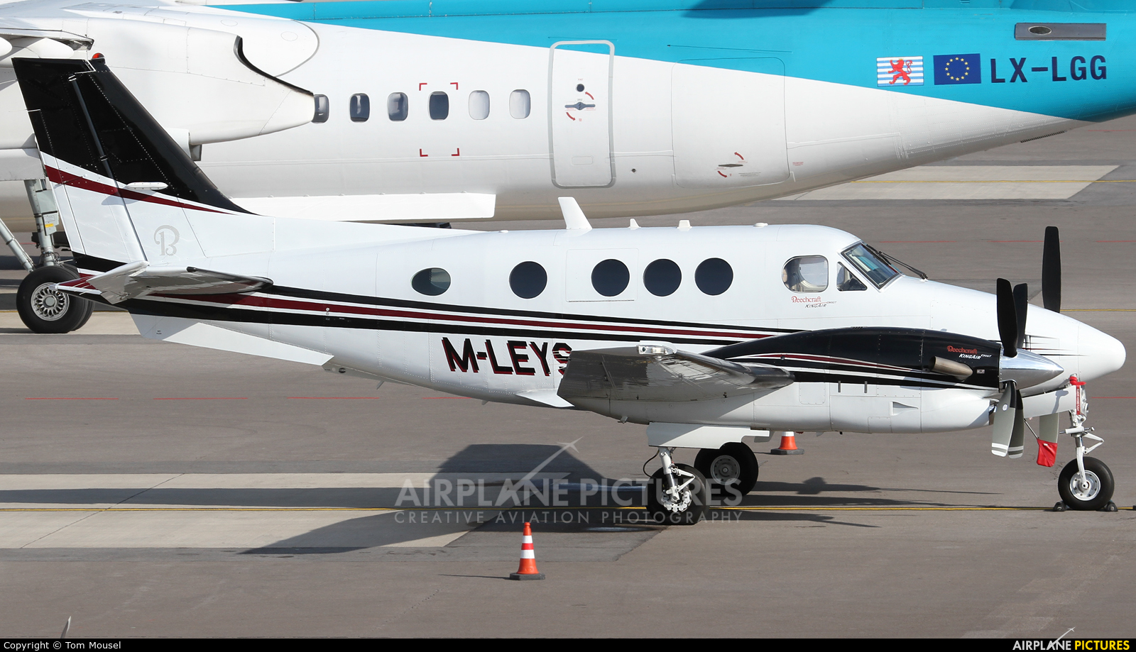 Private M-LEYS aircraft at Luxembourg - Findel
