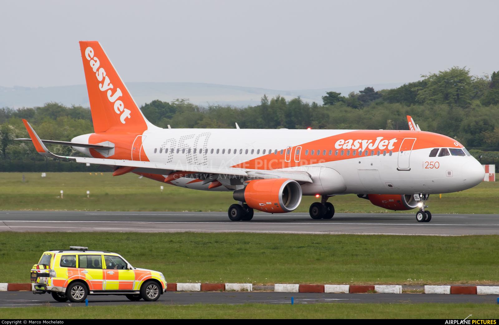 easyJet G-EZOL aircraft at Manchester