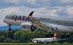 Qatar Airways Airbus A350-900 A7-ALB at Zurich airport