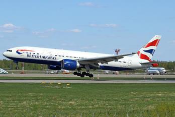 G-VIIK - British Airways Boeing 777-200