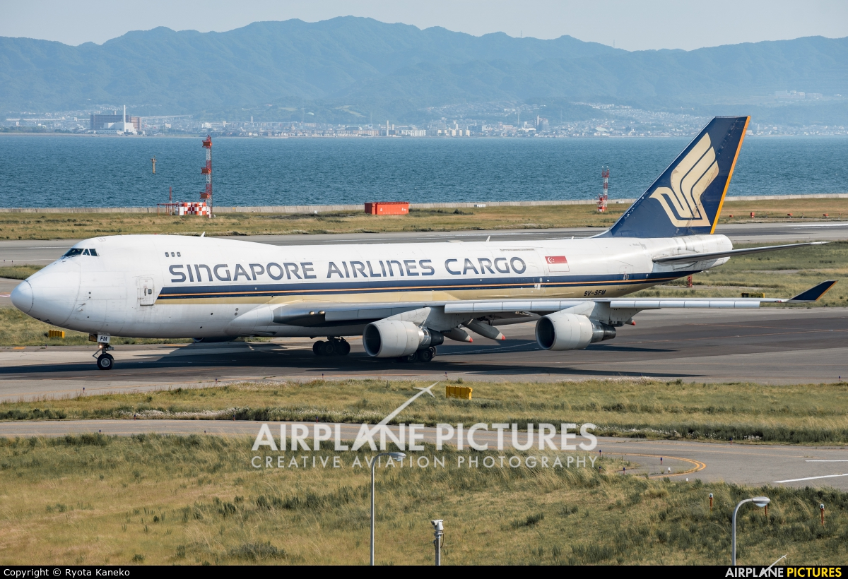 Singapore Airlines Cargo 9V-SFM aircraft at Kansai Intl