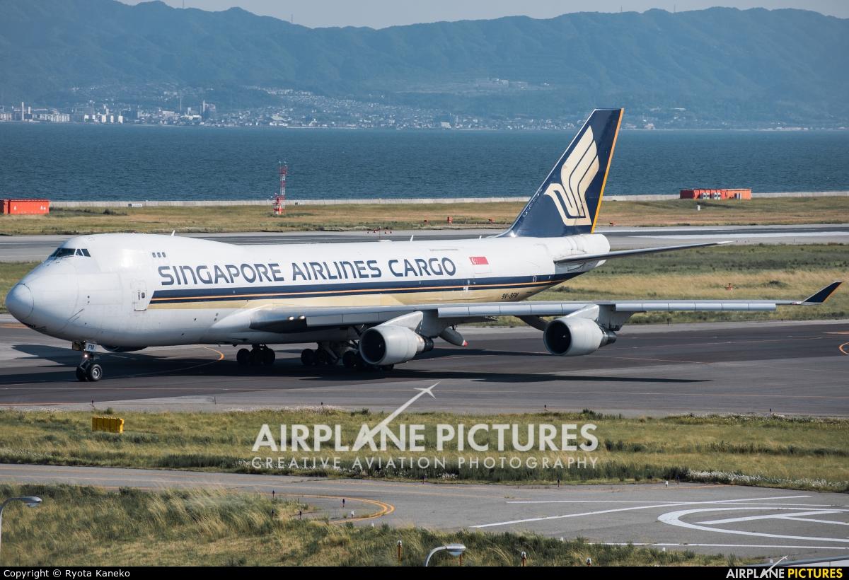 Singapore Airlines Cargo 9V-SFM aircraft at Kansai Intl