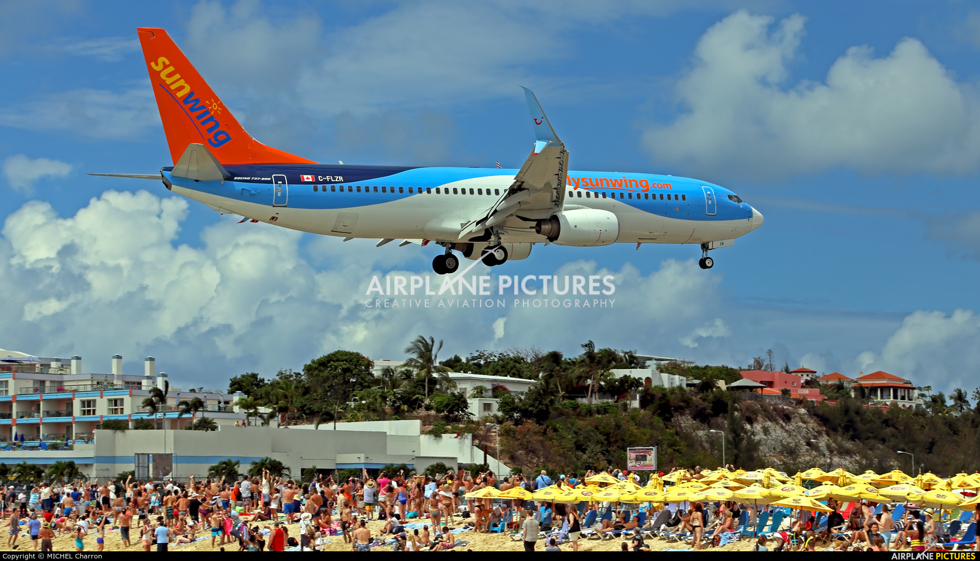Sunwing Airlines C-FLZR aircraft at Sint Maarten - Princess Juliana Intl