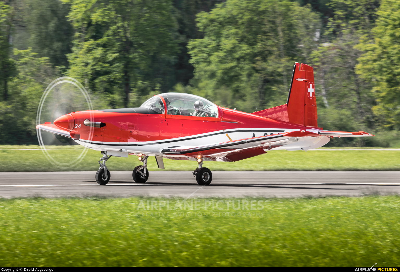 Switzerland - Air Force: PC-7 Team A-924 aircraft at Alpnach