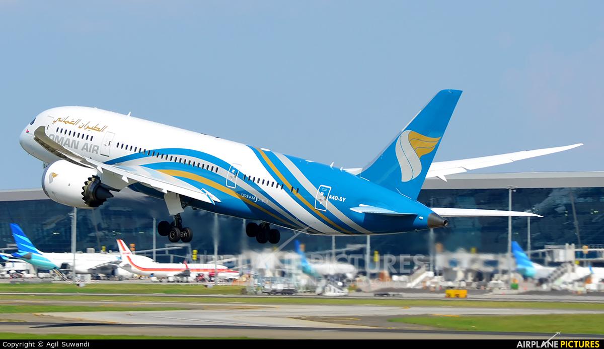 Oman Air A4O-SY aircraft at Jakarta - Soekarno-Hatta Intl
