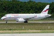 Rare visit of Russian EMERCOM Superjet 100 to Geneva title=