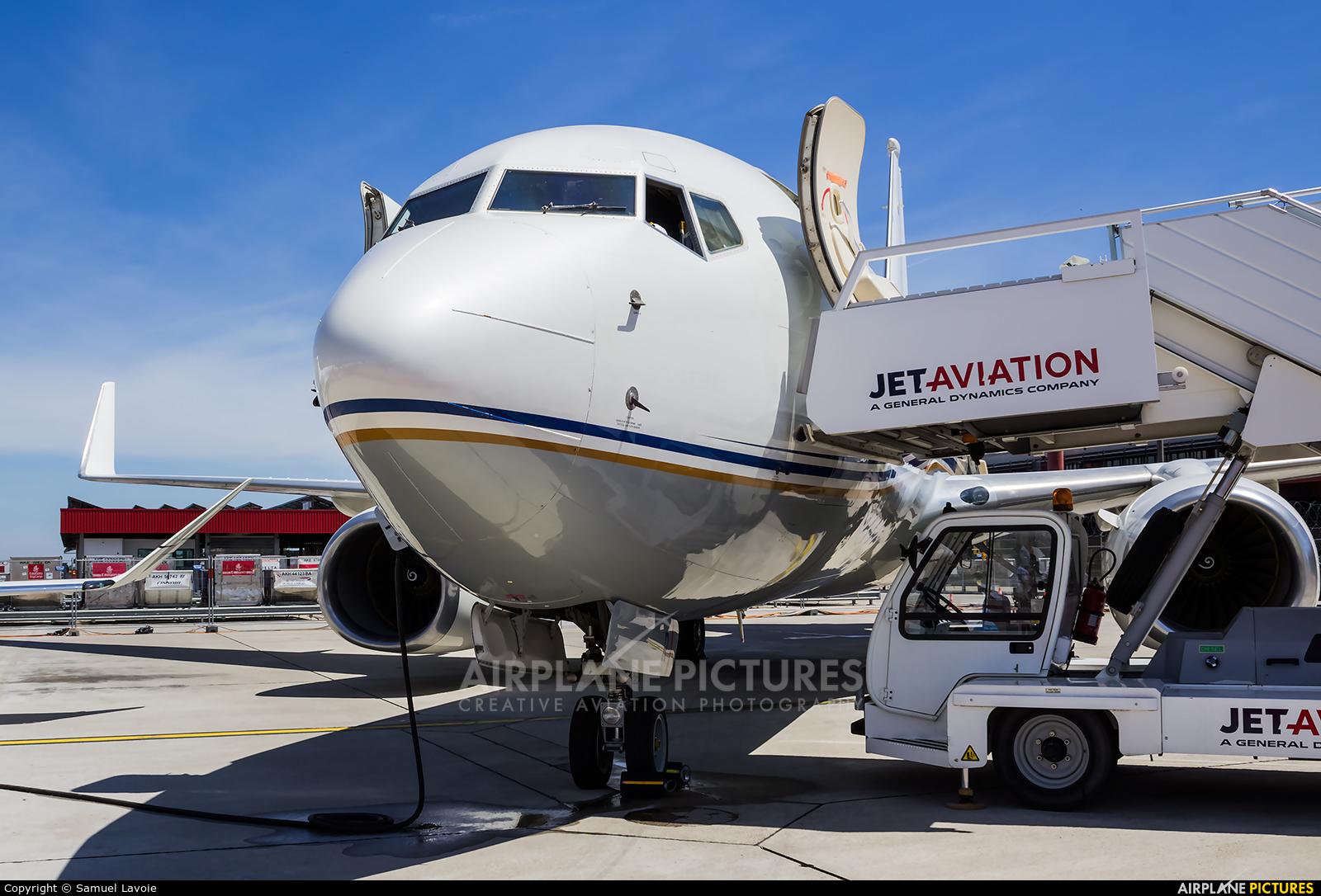 Royal Jet A6-DFR aircraft at Geneva Intl