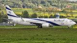 El Al Israel Airlines Boeing 737-800 4X-EKI at Kraków - John Paul II Intl airport