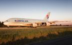 Korean Air Airbus A380 HL7614 at Paris - Charles de Gaulle airport